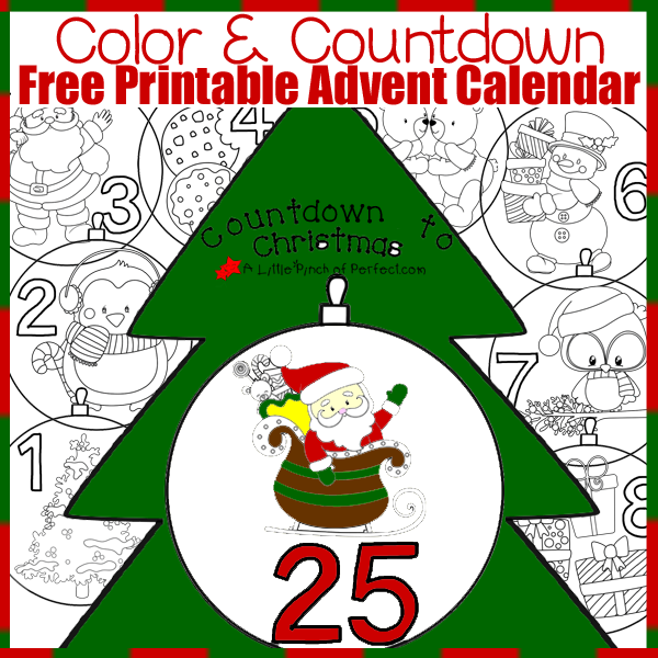 A Little Pinch of Perfect's Colouring Advent Calendar