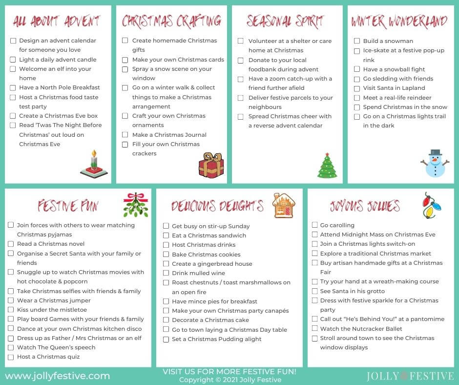 Complete Christmas Bucket List of Activities to Check Off