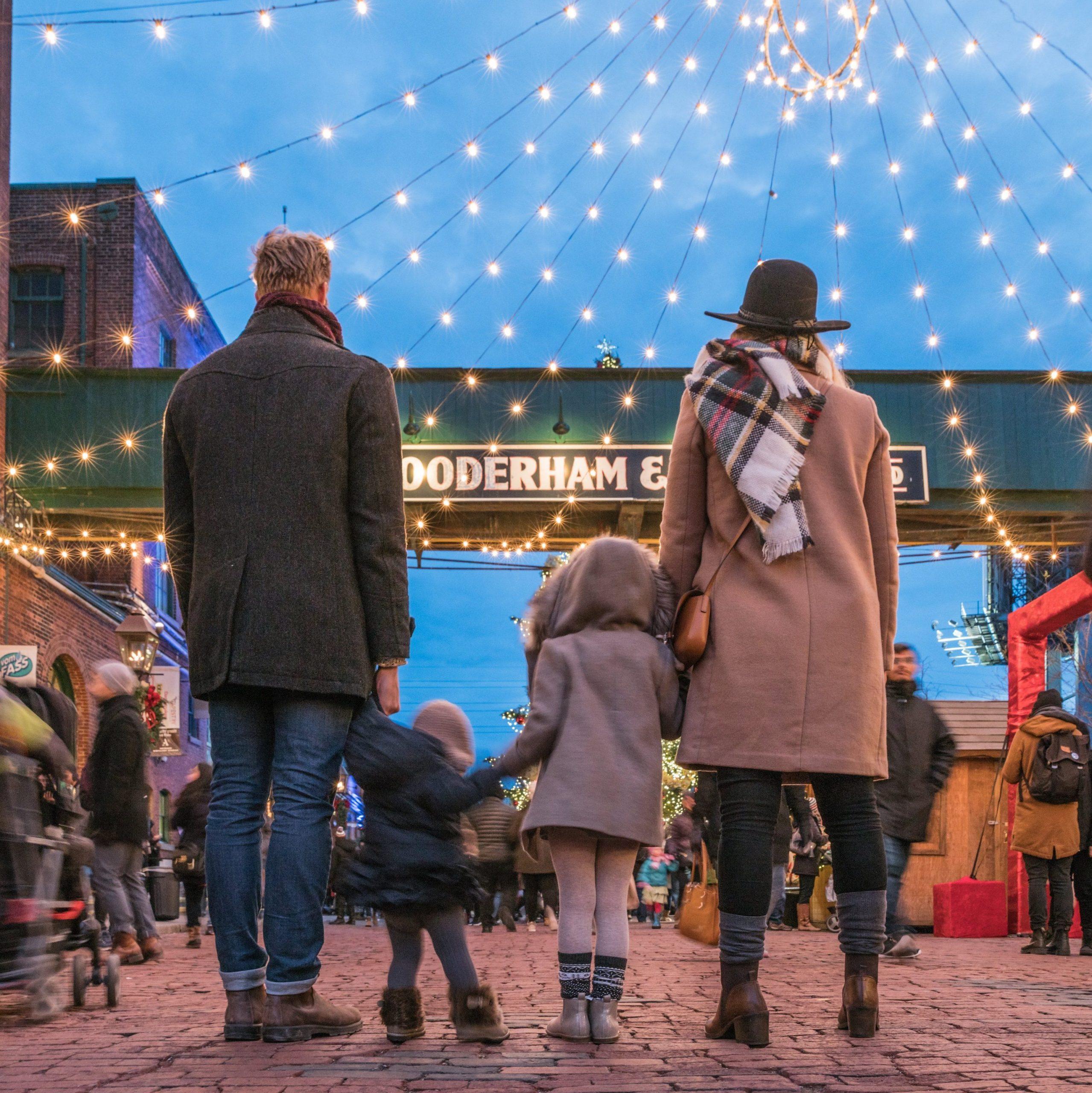 Family at Christmas Market