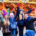 Family at Christmas Funfair