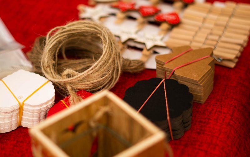 Crafty Advent Calendar Ideas - selection of festive craft materials
