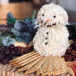 Jolly Festive Snowman Cheeseball