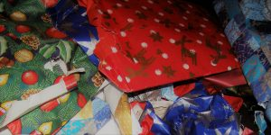 Wrapping Paper Aftermath