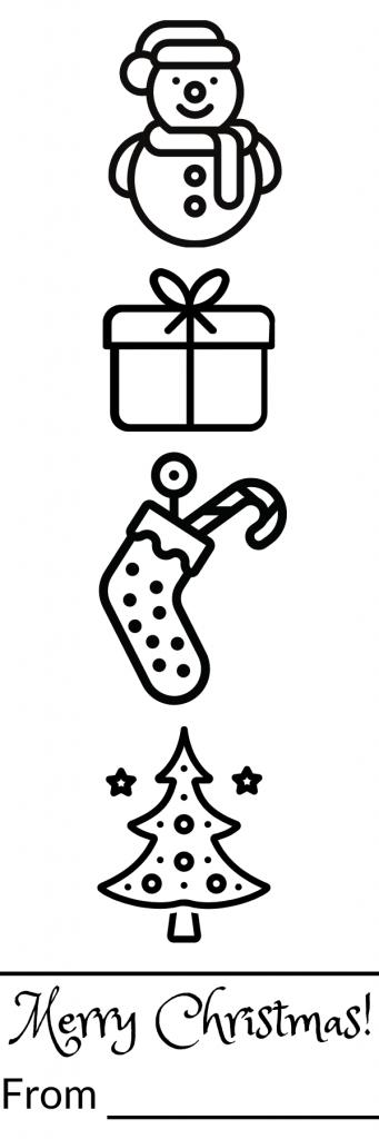 Jolly Festive Colour-in Bookmark Design 2