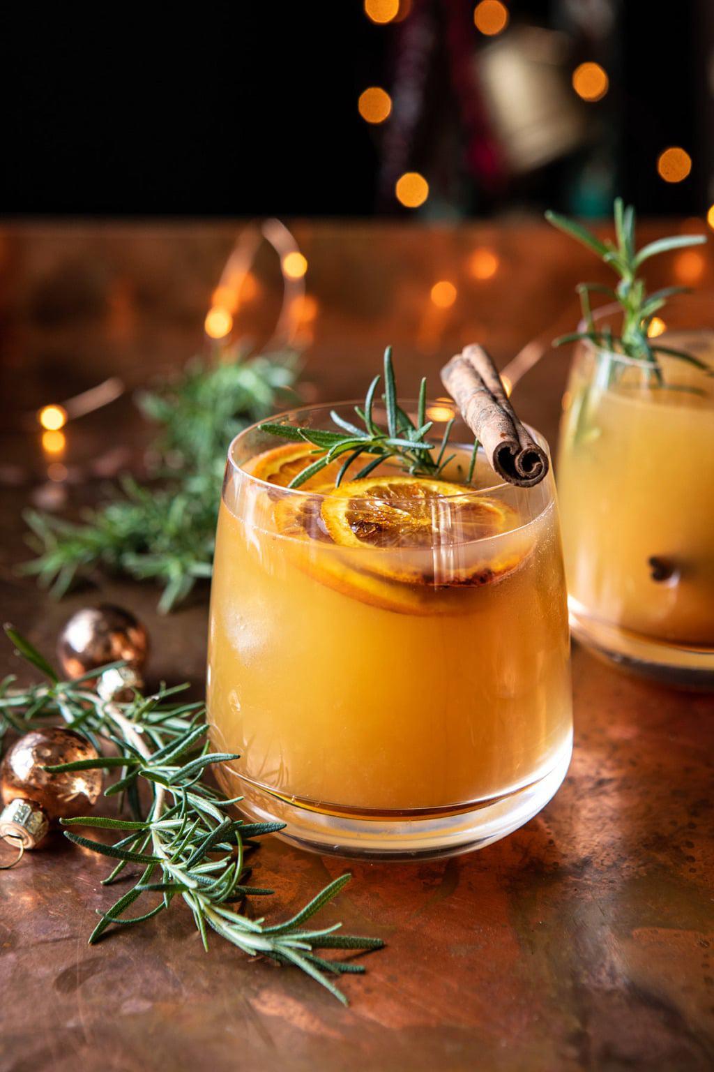 Cinnamon Bourbon Old Fashioned Christmas Cocktail