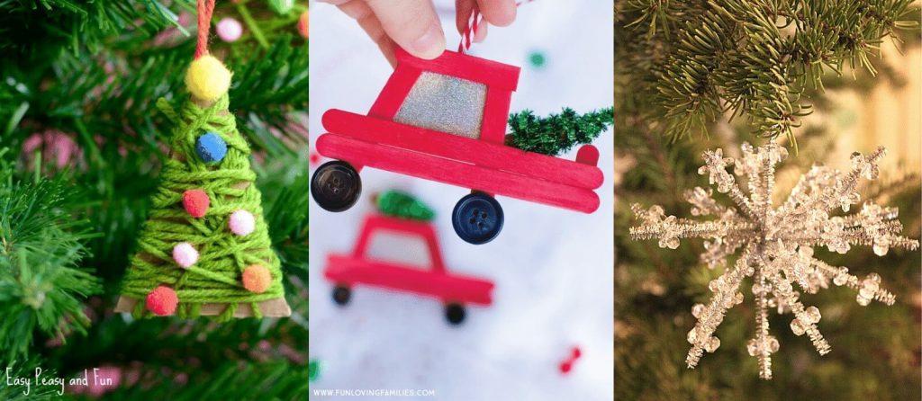 Selection of Homemade Christmas Ornaments