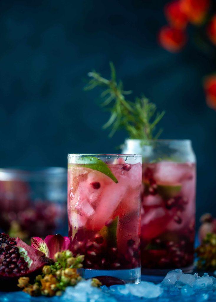 How Sweet Eats Pomegranate Gin & Tonic
