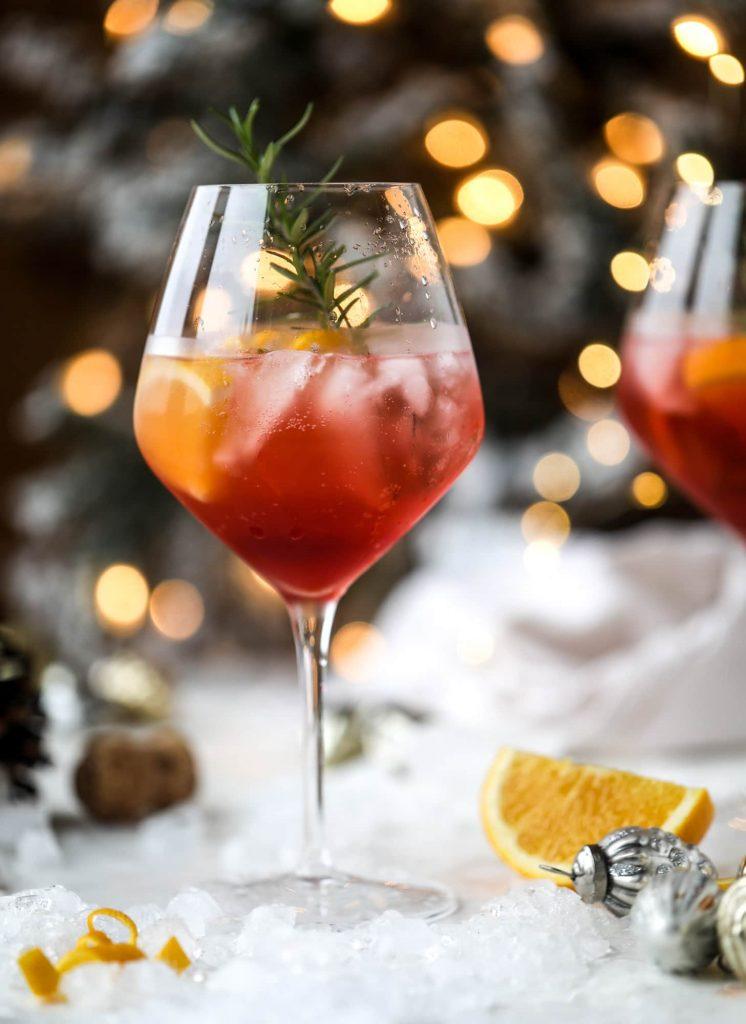 How Sweet Eats Winter Aperol Spritz