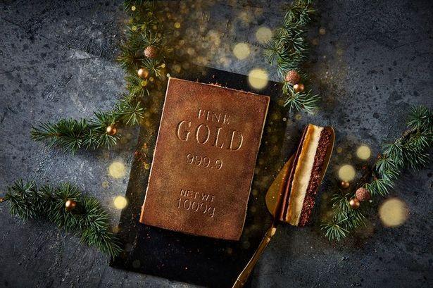 Iceland Luxury Zillionaire Salted Caramel Gold Bar Cheesecake
