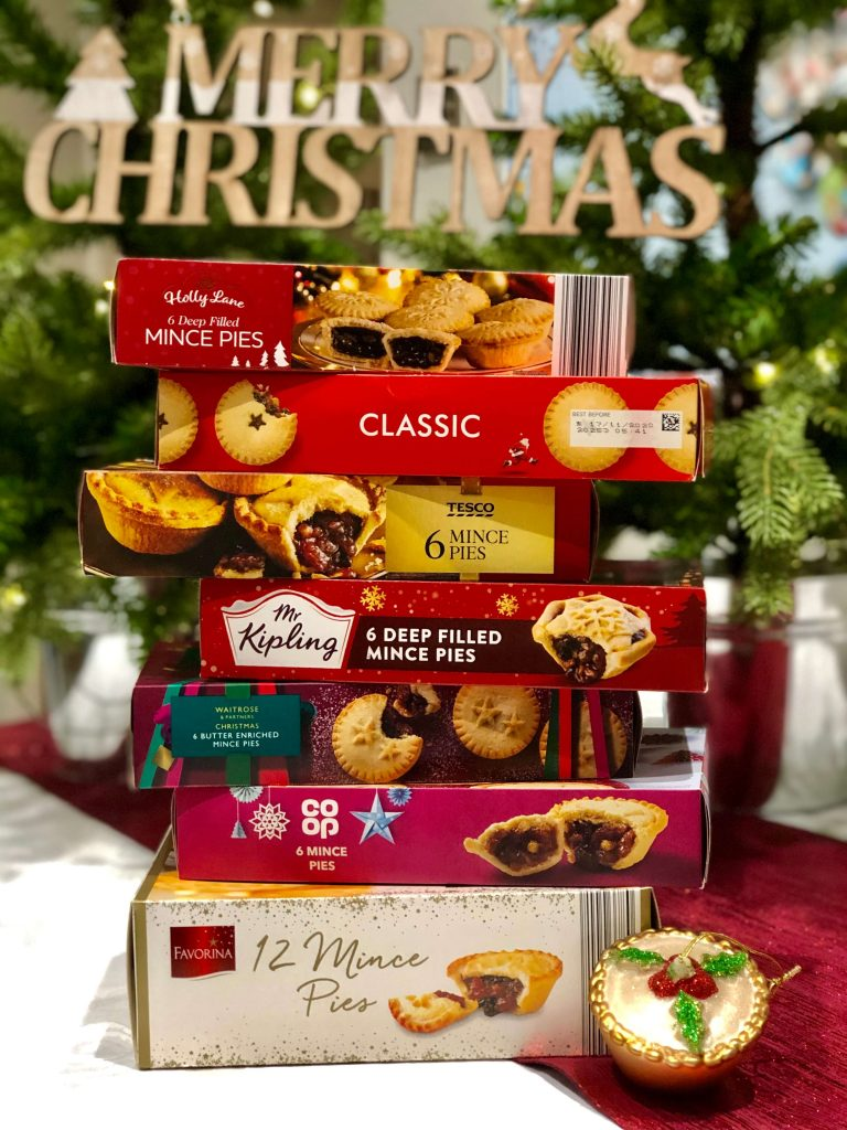 Stack of Supermarket Mince Pie Packets