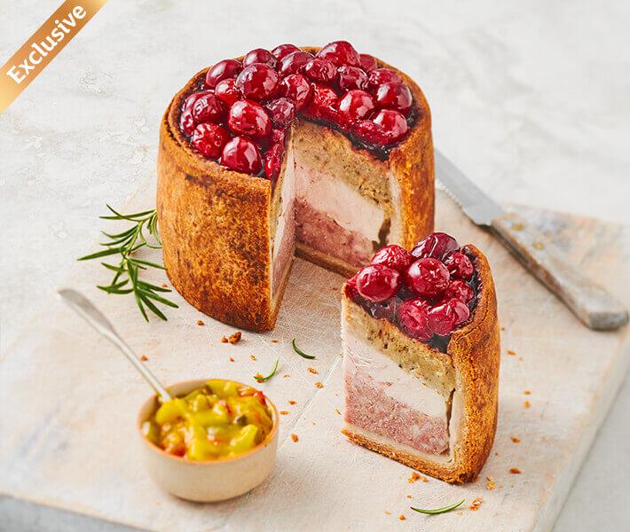 Sainsbury's Layered Pork, Chicken & Stuffing Pie