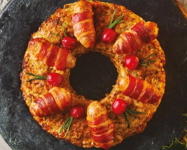 Sainsburys Taste The Difference Pork, sage & Onion Stuffing Wreath