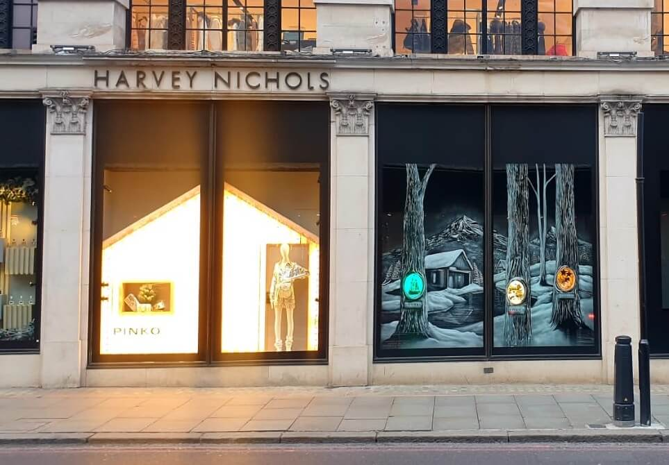 Snow Windows Harvey Nichols