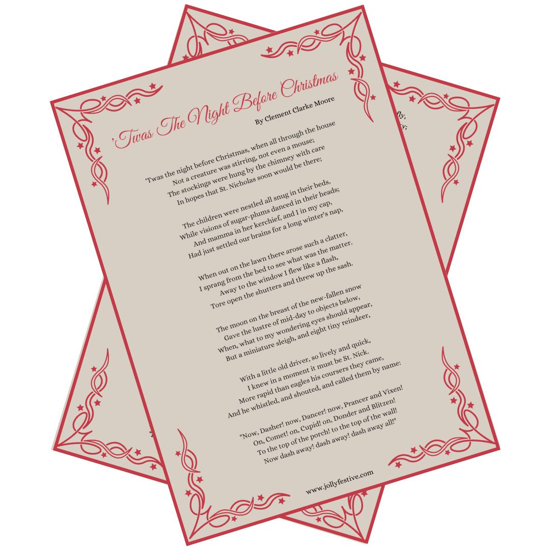'Twas The Night Before Christmas Printable