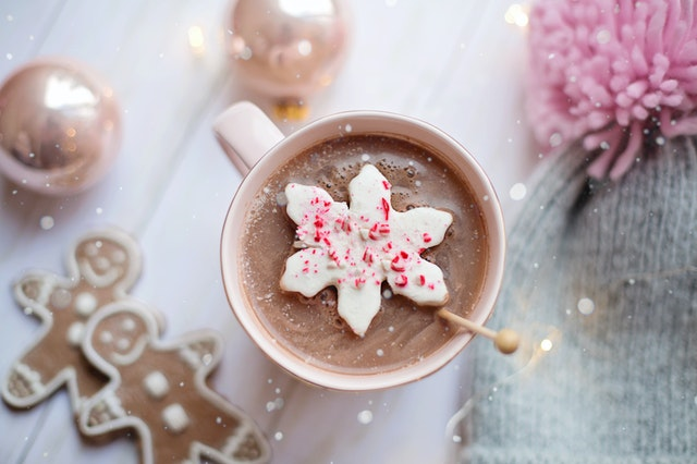 Hot Chocolate With Snowflake Marshmallow