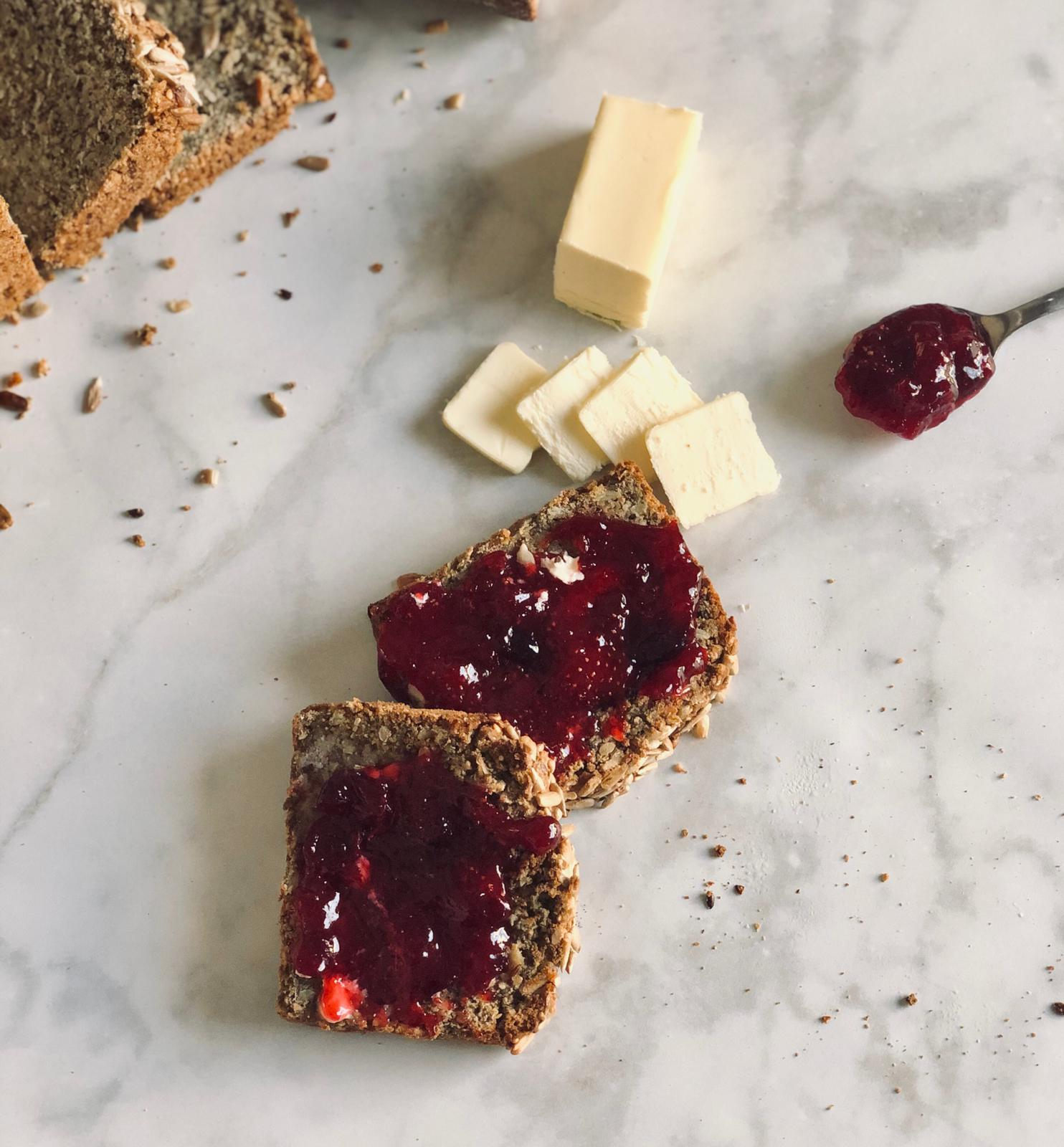 Christmas Jam on Bread with Butter