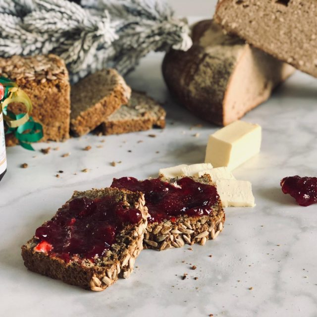 Christmas Jam on Bread