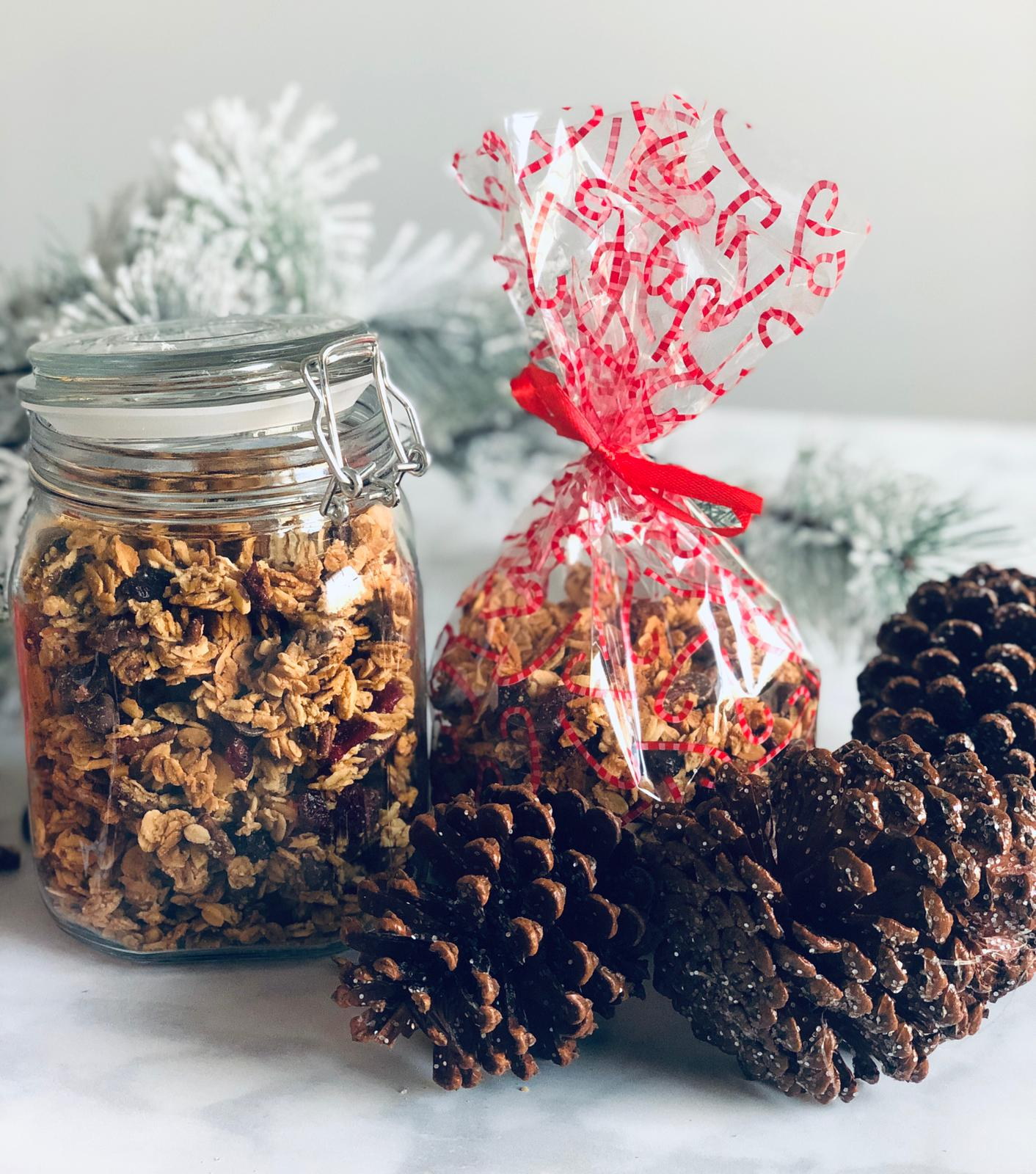 Cranberry & Chocolate Granola in gift bag