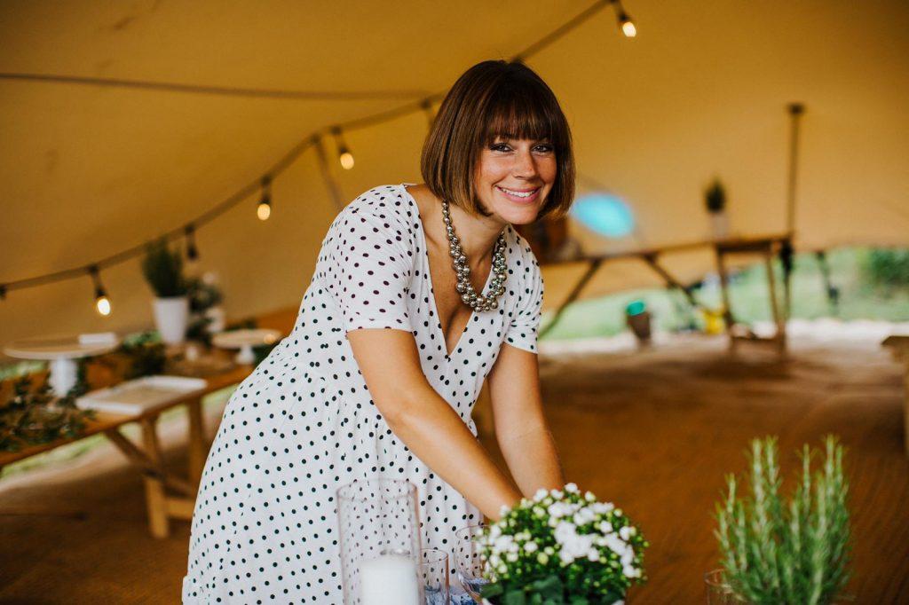 Chloe at White Button Weddings
