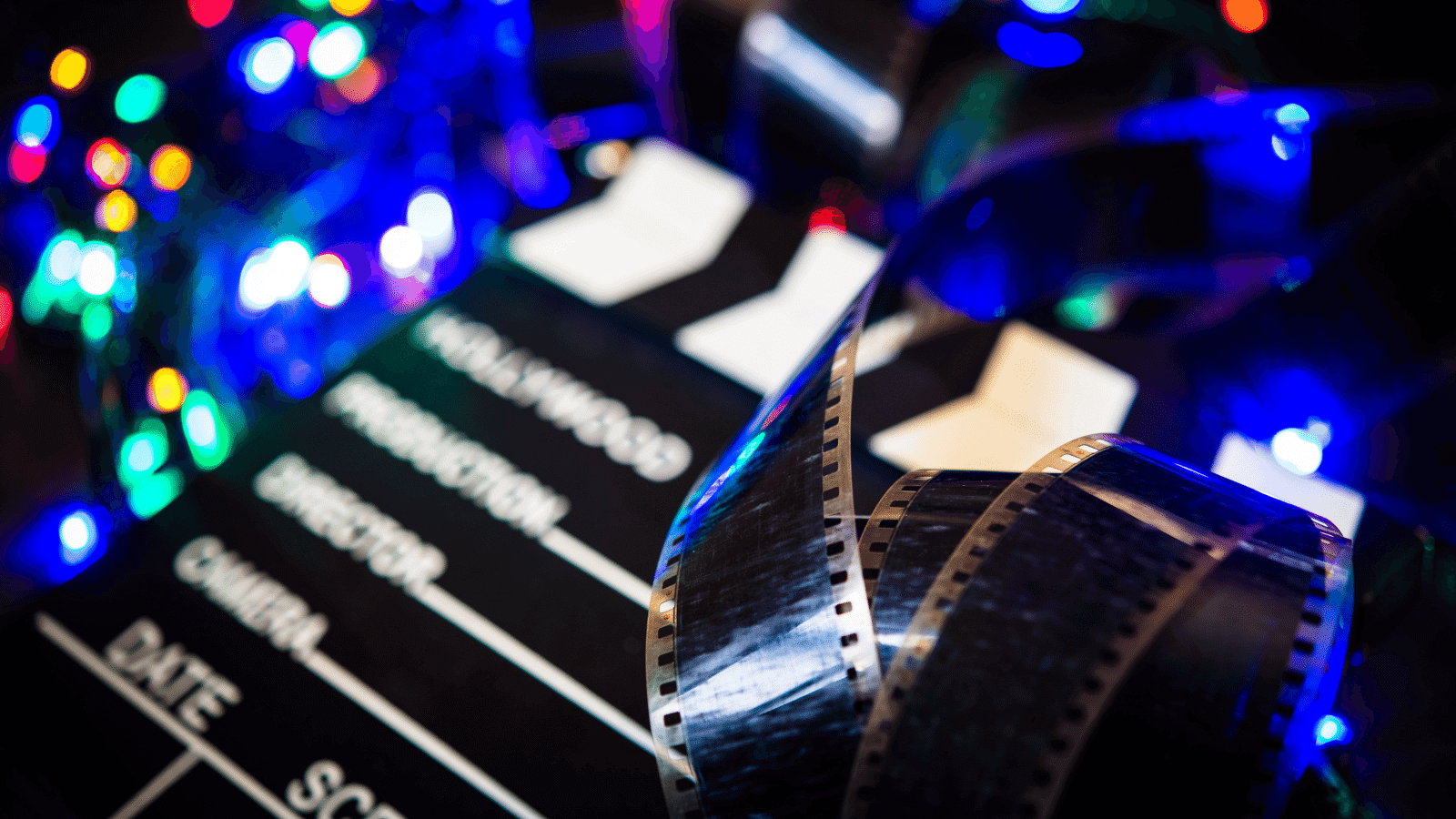 Christmas Movie Reel & Clapperboard