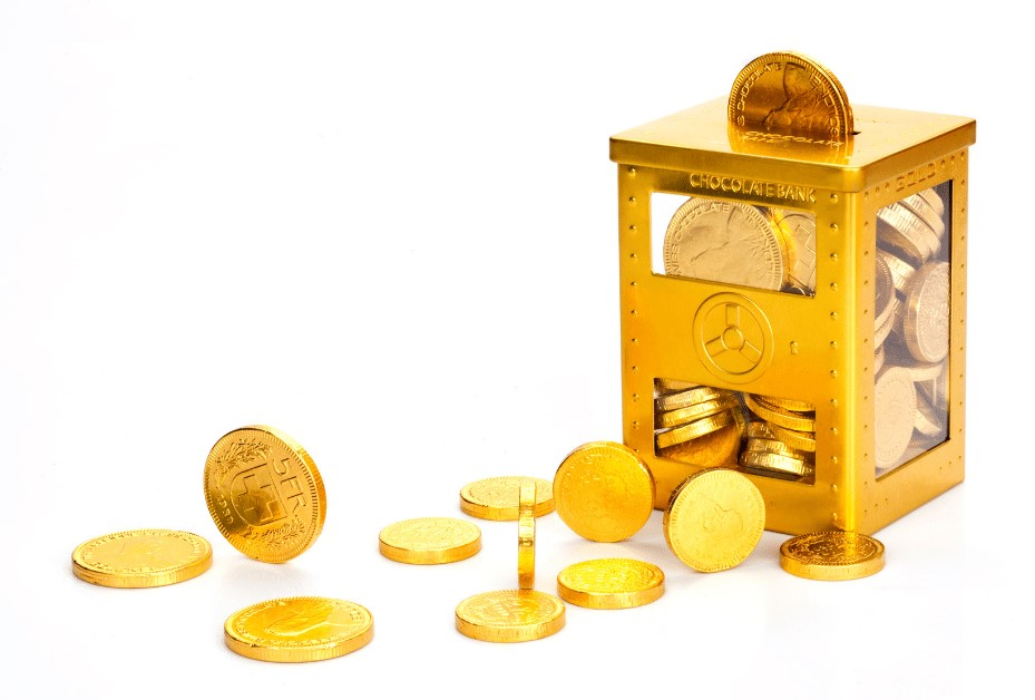 Chocolate Coins in a Money Box