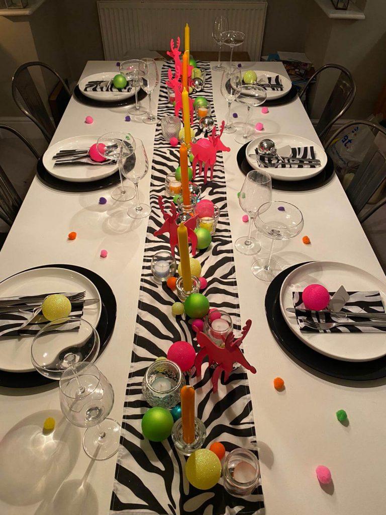 Christmas Table Decor - A Crazy Christmas