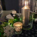 Christmas Table Decor - Sparkle & Snowflakes