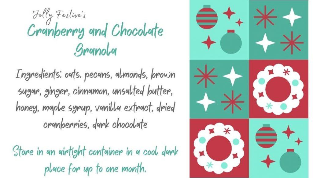 Cranberry & Chocolate Granola