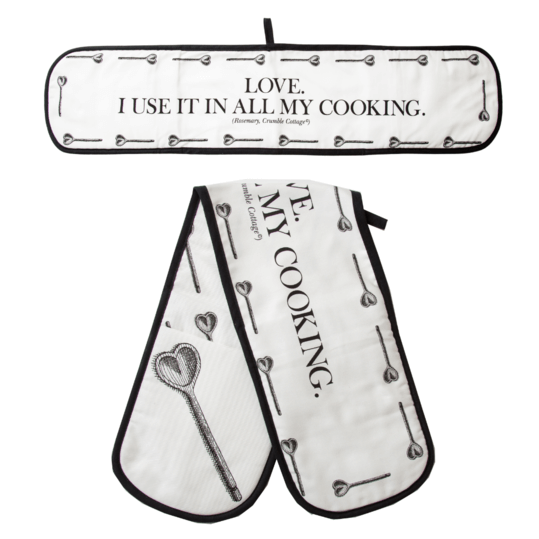 Crumble Cottage Love Cooking Oven Gloves