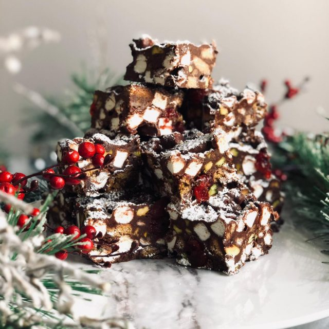 Christmas Rocky Road stacked