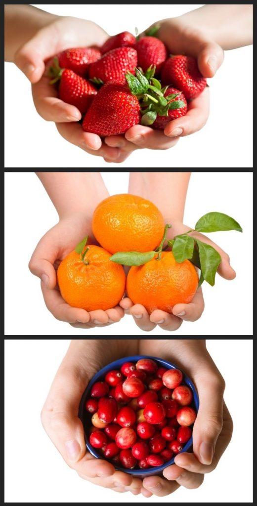 Strawberries, Clementines & Cranberries