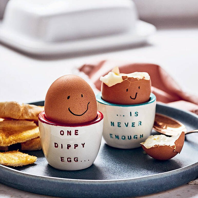 Gilbert and Stone Pair of Personalised Ceramic Egg Cups
