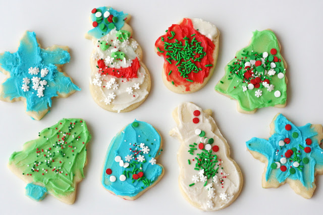 Hand-Decorated Festive Shaped Cookies