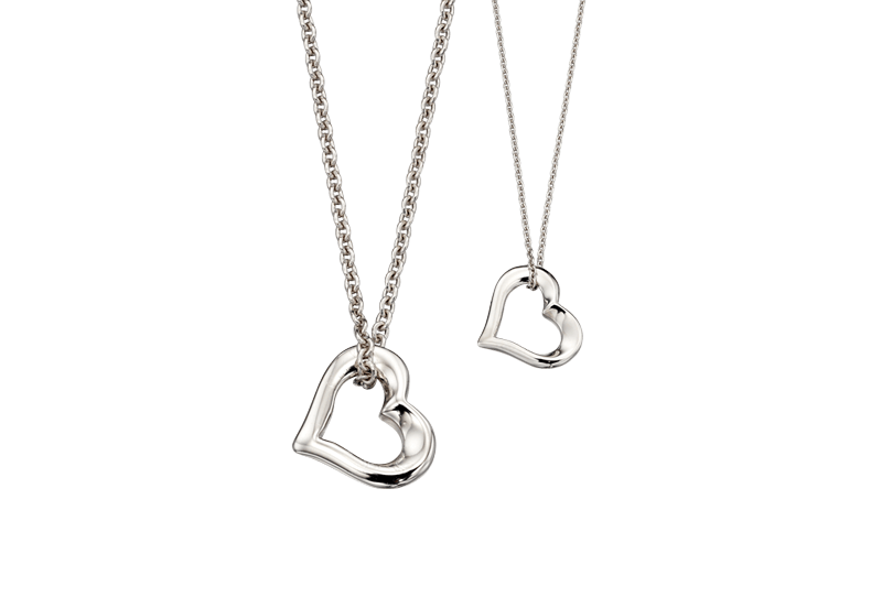 Little Star Jewellery Two Hearts Beat As One Necklace Set
