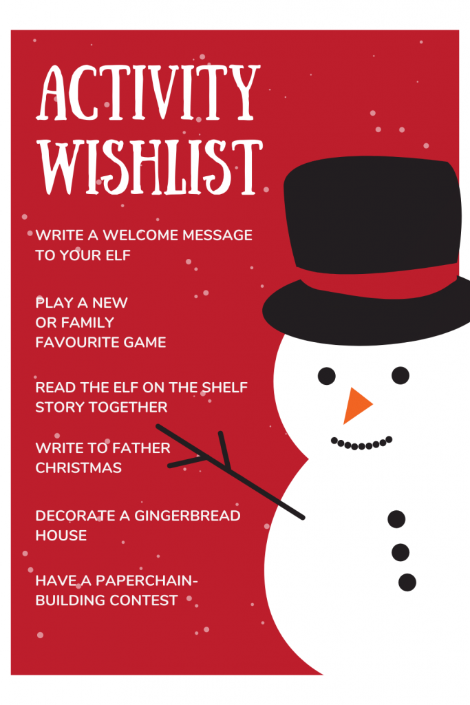 North Pole Breakfast Activity Wishlist