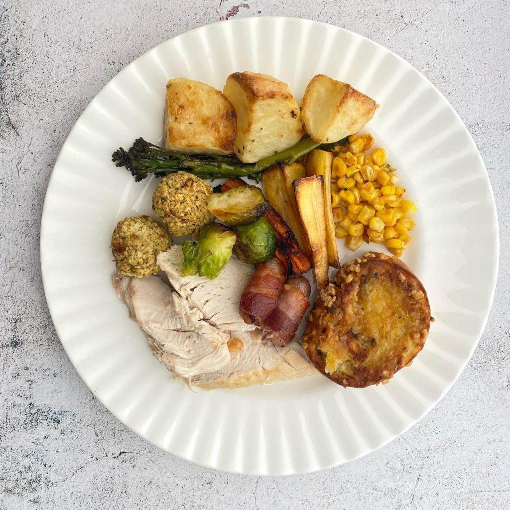 The Full Freezer Christmas Dinner Plate