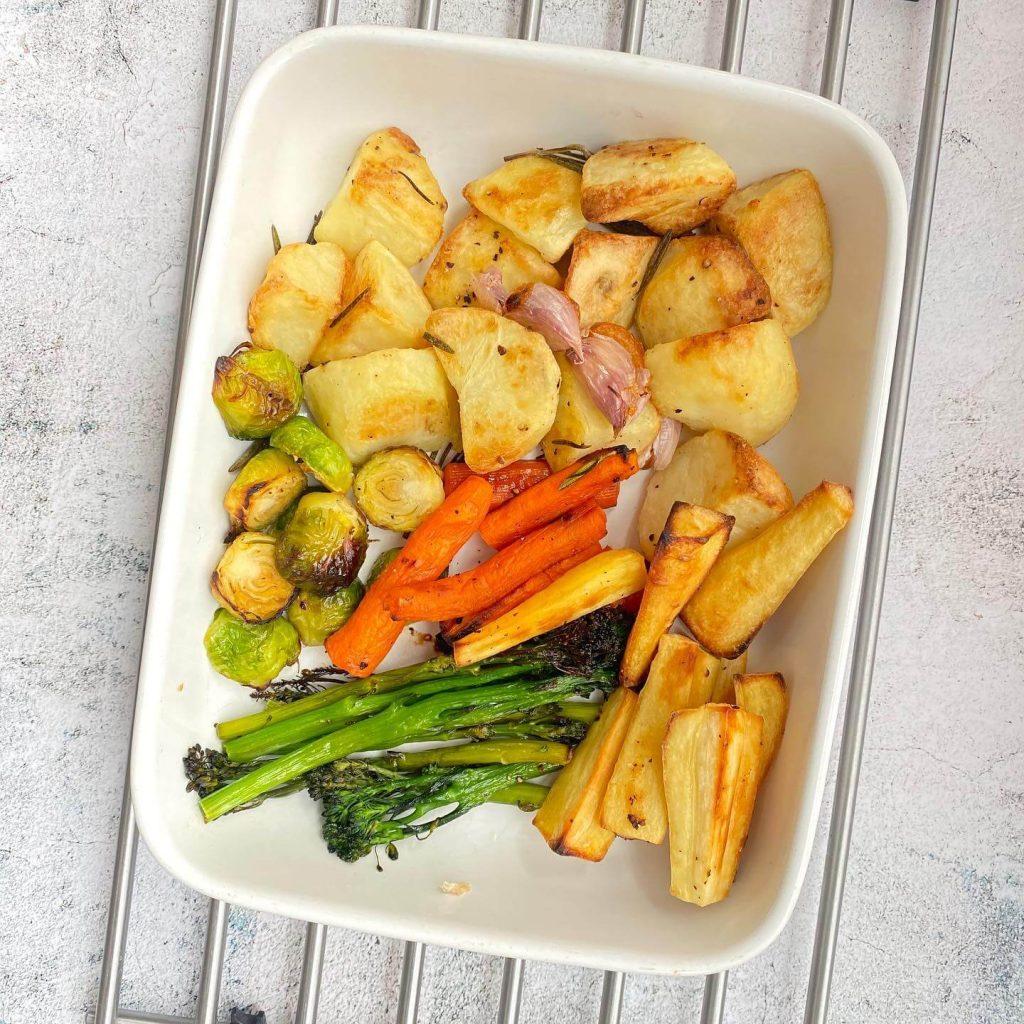 The Full Freezer Christmas Dinner Roasted Veg