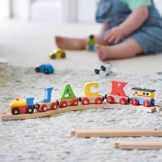 The Letteroom Personalised Wooden Name Train