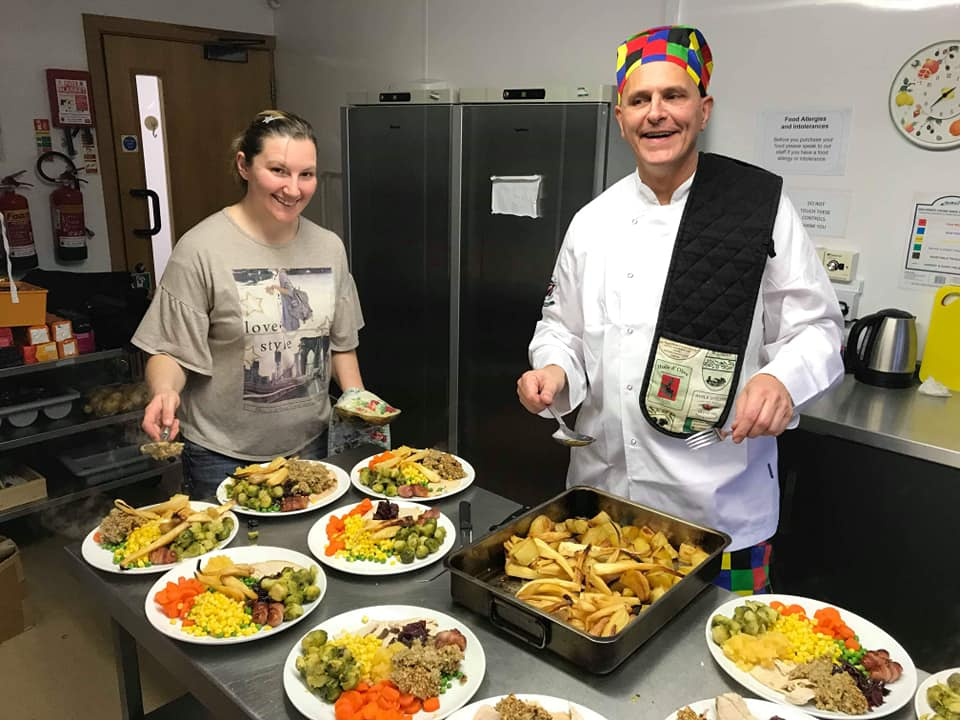 Cwmbran Community Dinner Busy In The Kitchen