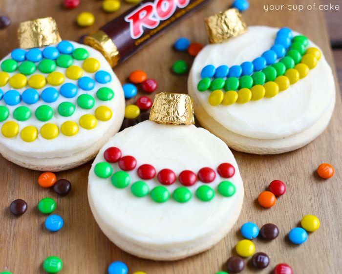 Christmas Ornament Sugar Cookies