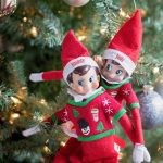 Two Elves in a Christmas Tree