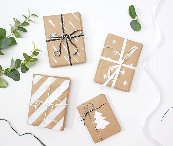 A Pretty Fix Brown Paper Gift Wrap Ideas