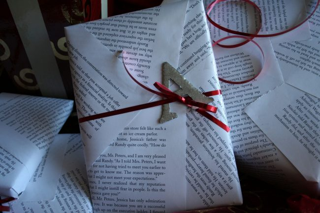 Book page Wrapping Paper