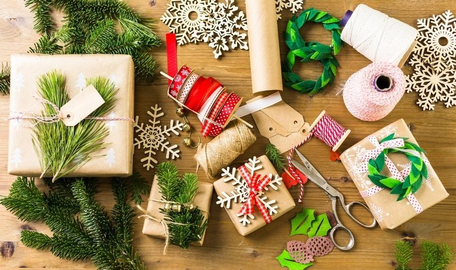 Christmas Brown Paper Gift Wrap Ideas