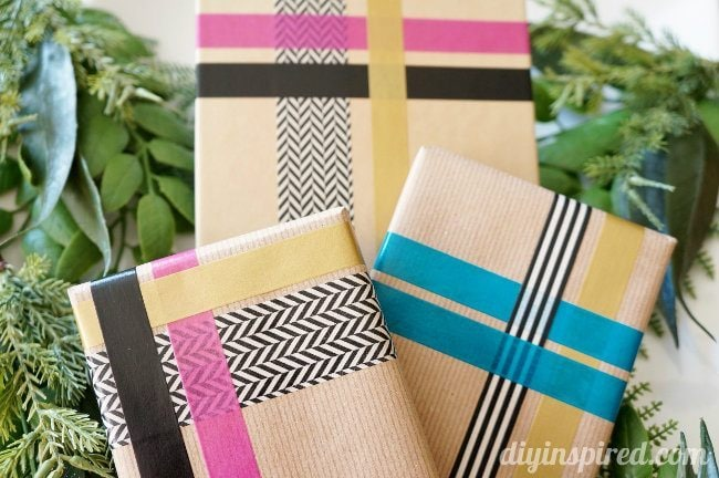 DIY Inspired Washi Tape Gift Wrapping