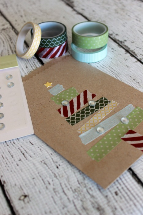 Food Crafts & Family Washi Tape Christmas Trees