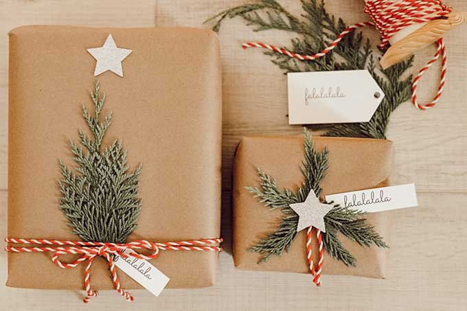 Hallstrom Home Gift Wrap with Greenery