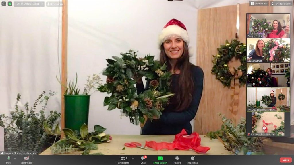 Lisa Hosting a Wreath Workshop
