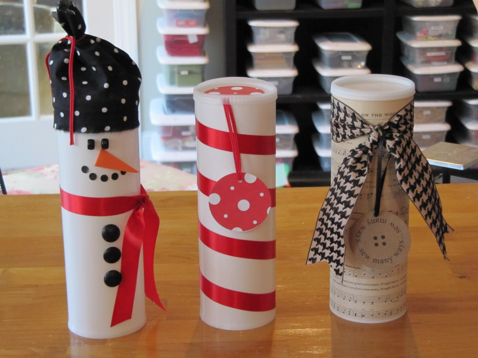 Recycled Pringles Containers