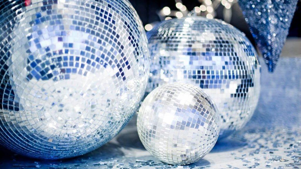Trio of glitter balls